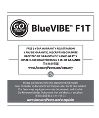 Accessory Power BlueVIBE F1T GG-BLUEVIBEF1T-WHT User Manual