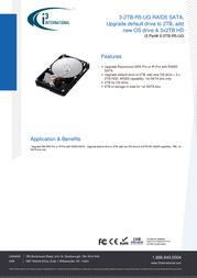 i3 International 3-2TB-R5-UG Data Sheet
