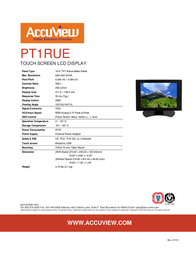 """Accuview 10.4"""" PT1RUE Leaflet"""