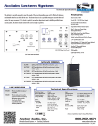Anchor Audio ACL-BP/EM Leaflet