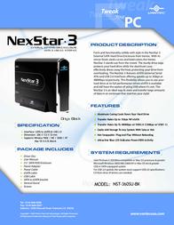 Vantec NexStar 3 NST-360SU-BK NST-360SU-BK Leaflet