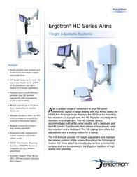 Ergotron HD Dual-Monitor Arm Grey 28-275-180 Leaflet