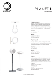Elipson Planet L - Ceiling mount 3760108805309 Leaflet