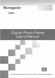 Sungale CD803 User Manual