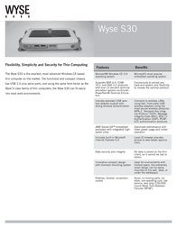 Dell Wyse S30 902113-02L Leaflet