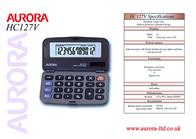 Aurora HC127V NHC127V Leaflet