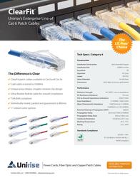 Unirise 2ft Cat6 UTP 10051 Leaflet