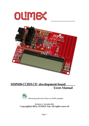 Olimex 868 / 915MHZ transceiver module with CC430F5137 MSP430-CCRFLCD MSP430-CCRFLCD User Manual