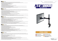 "Newstar Products Monitor desk mount 10"" - 27"" Swivelling/tiltable, Swivelling FPMA-D960 Leaflet"