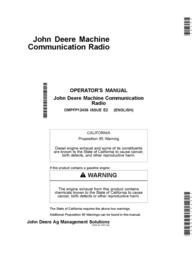 John Deere OMPFP12436 User Manual