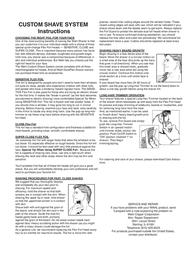 Wahl CUSTOM SHAVE SYSTEM Leaflet