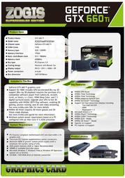Zogis GeForce GTX 660 Ti ZOGTX660TI2GD5H Leaflet