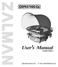 Zalman CNPS5700D-Cu for Intel Processor (Socket 478) 7476 User Manual