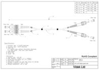 Videk 62.5/125 ST to SC Duplex Fibre Optic Cable 2m 3511-2 Leaflet