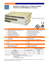Phihong POE370U-480-8 User Manual