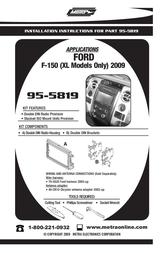 Metra 95-5819 User Manual