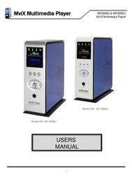Mvix MV4000U User Manual