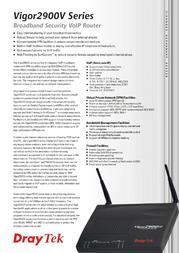 Draytek Vigor 2900V V2900V Leaflet