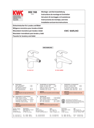 KWC MARLINO 168 User Manual
