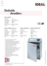 Ideal Desk-side shredder IDEAL 2350-Micro/Cut 23508111 Leaflet