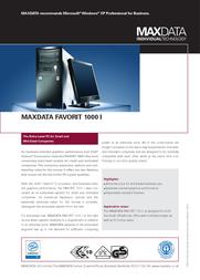 Maxdata Favorit 1000 367393 Leaflet