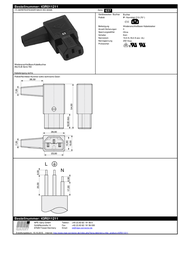 K B IEC connector C13 Socket, right angle Total number of pins: 3 10 A Black K & B 43R011211 1 pc(s) 43R011211 Data Sheet