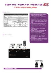 Intronics DVI Splitter VSDA-104 Leaflet