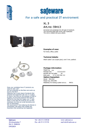 Safeware 59413 Leaflet