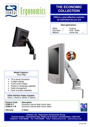 Comrac Economic desk mount, black COMLA11B Leaflet