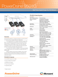 PowerDsine 9501G PD-9501G/AC Leaflet