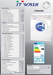 ITWASH ITW4208I Leaflet