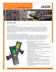 Janam Technologies XG100W XG100W-1FGDBV00 Leaflet