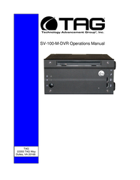 TAG SV-100-M-DVR User Manual