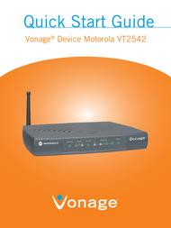 Vonage VT2542 User Manual