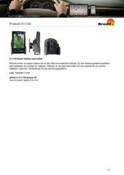 Brodit Passive Holder,Tilt Swivel 511155 Leaflet