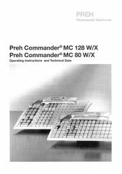 Preh mc128wx User Guide