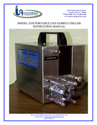 Universal Remote Control 510S PORTABLE GAS SAMPLE CHILLER User Manual