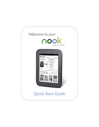 Barnes & Noble Nook Simple Touch Quick Setup Guide