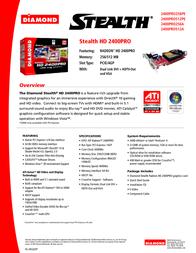 Diamond Multimedia 2400PRO512PESB Leaflet