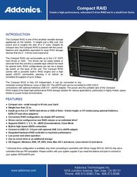 Addonics Compact RAID CPR5SA Leaflet