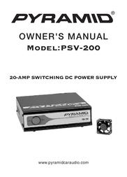 Pyramid Car Audio Power Supply PSV-200 User Manual