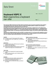 Fujitsu FS KEYBOARD KBPC E LIGHT BASIC US S26381-K261-L110 전단