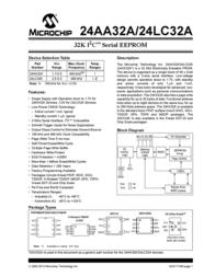 Microchip Technology 24LC32A-I/SN Memory IC 32 K 4 K x 8 24LC32A-I/SN Data Sheet