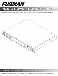 Furman PL-8 C Owner's Manual