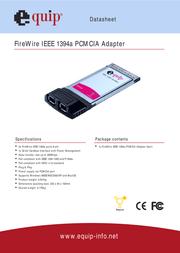 Equip FireWire IEEE 1394a PCMCIA Adapter 128144 Data Sheet