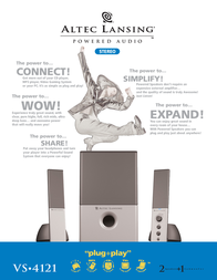 Altec Lansing Compact design sound system VS4121 VS4121-E Leaflet