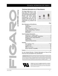 Figaro TGS2610-C00 TGS 2610 Gas Sensor For LP Gases Alcohol, Methane, Propane, Iso-Butane (Ø x H) 9.2 mm x 7.8 mm TGS2610-C00 Data Sheet