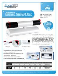 dreamGEAR Wireless Sensor Swivel Bar for Wii DGWII-1066 Leaflet