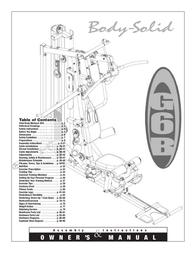 Body Solid G6B User Manual