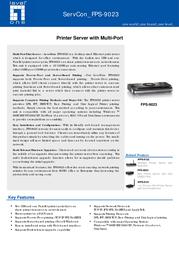 LevelOne Printer Server with Multi-Port FPS-9023 Leaflet